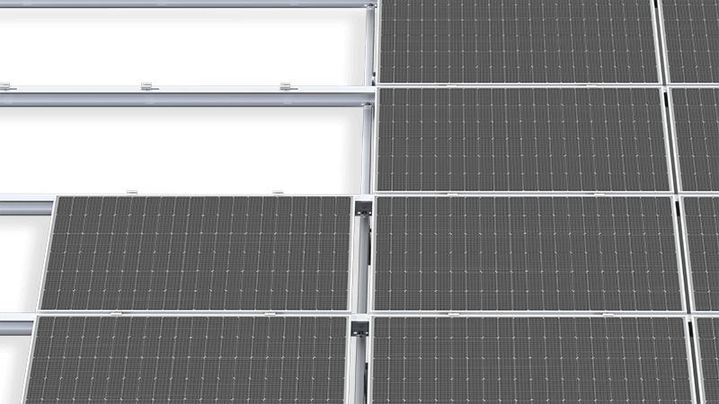BIFACIAL SYSTEM – WITH TWO SUPPORTS