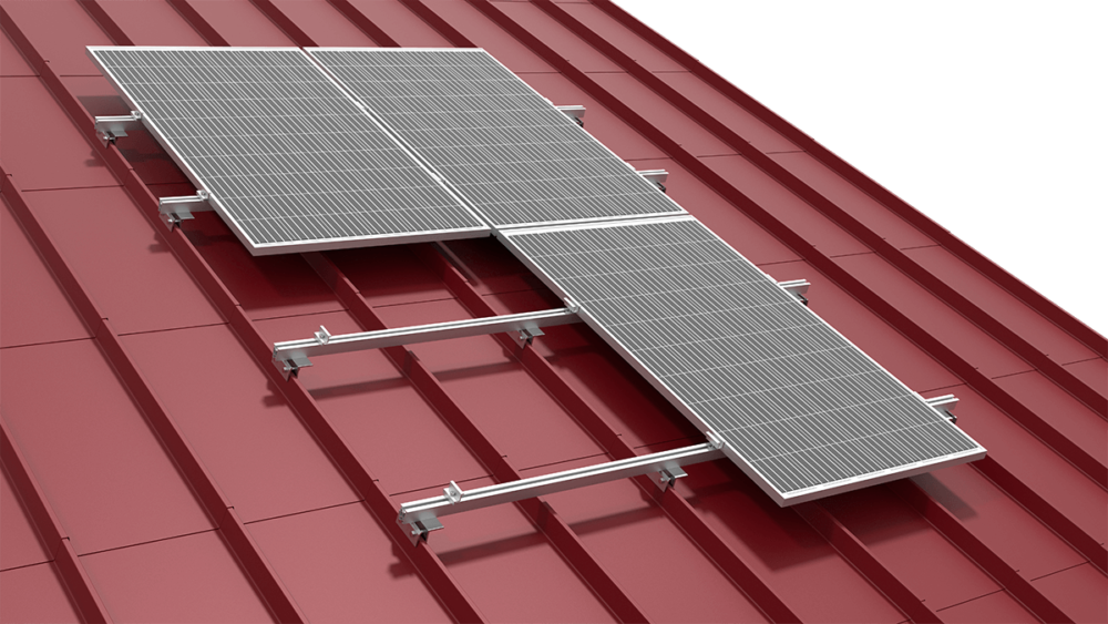 SYSTEM FOR A ROOF COVERED WITH SHEET METAL JOINED WITH A SEAM