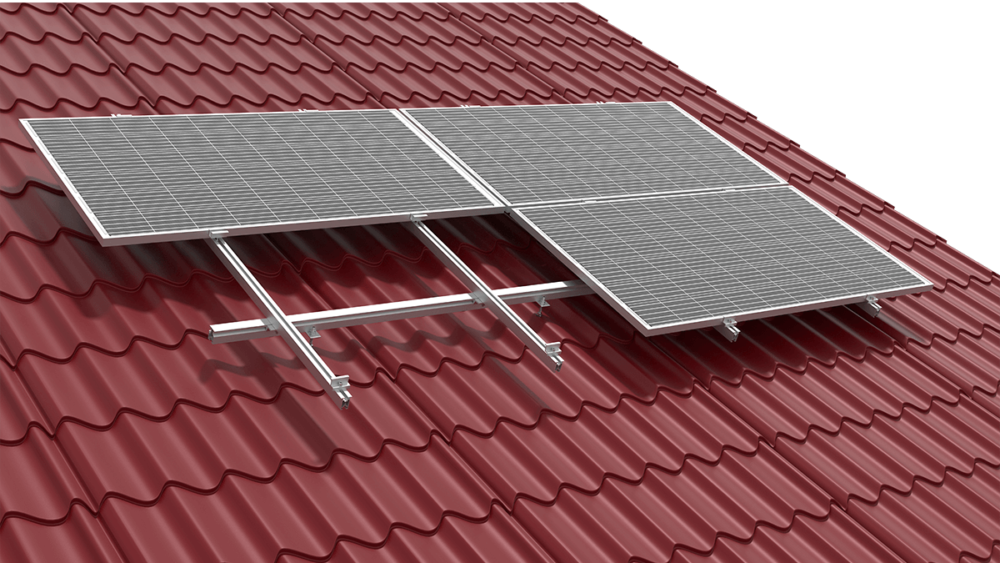 SYSTEM FOR A ROOF COVERED WITH METAL TILES
