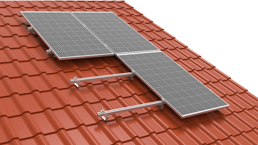 SYSTEM FOR A ROOF COVERED WITH CERAMIC TILES