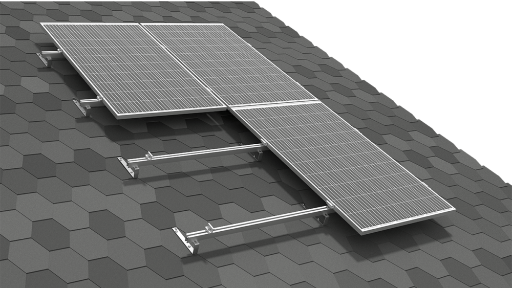 SYSTEM FOR A ROOF COVERED WITH ROOF SHINGLES/SLATE TILES