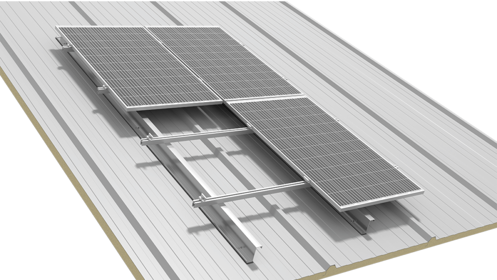 SYSTEM FOR A PITCHED ROOF COVERED WITH SANDWICH PANELS