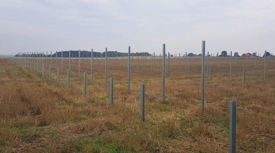 Trwa budowa farmy fotowoltaicznej o mocy 0,5 MW w Bielankach