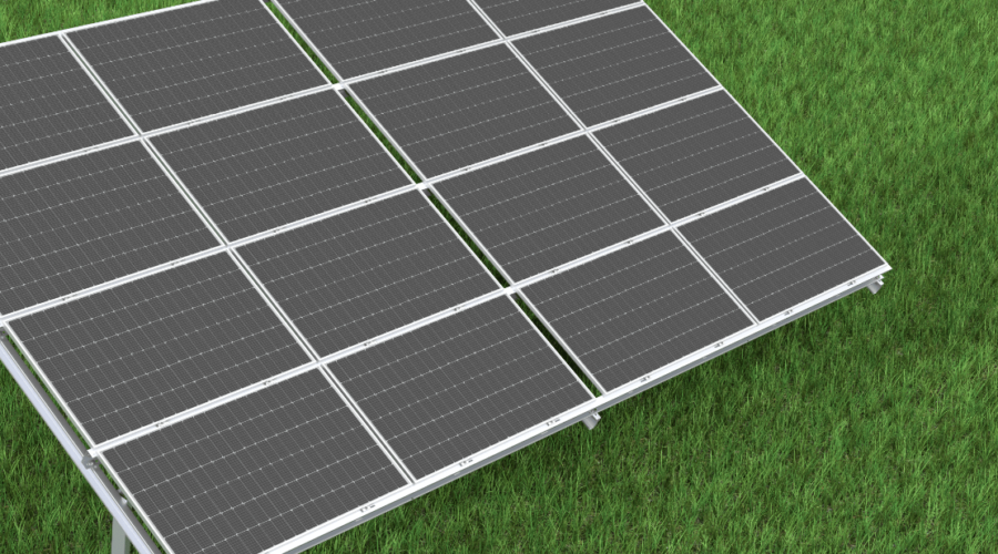 System bifacial na farmach PV o mocy 11 MW