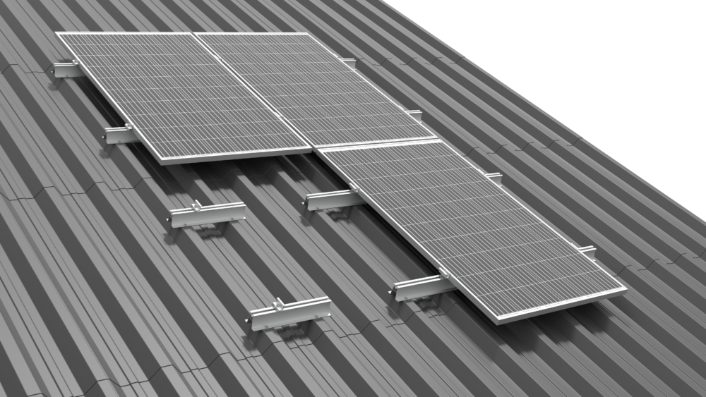 SYSTEMS FOR A ROOF COVERED WITH TRAPEZOIDAL SHEET METAL