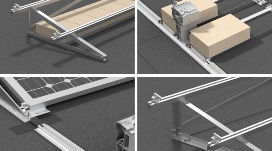 Porównanie konstrukcji PV na dach płaski