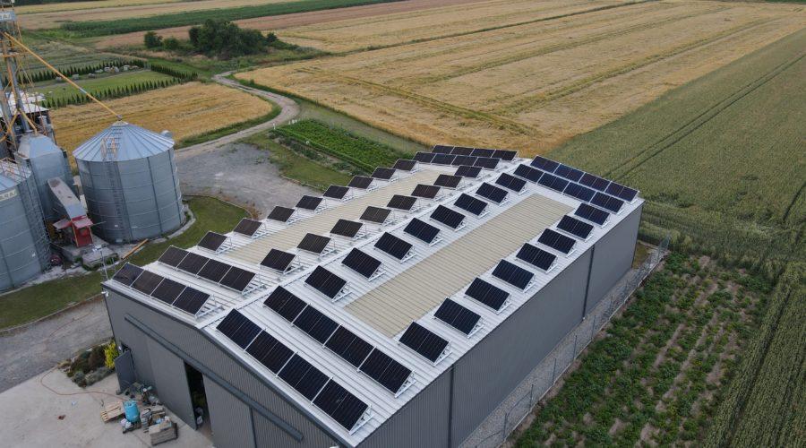 Konstrukcja PV na dach płaski dla modułów bifacial w technologii shingled